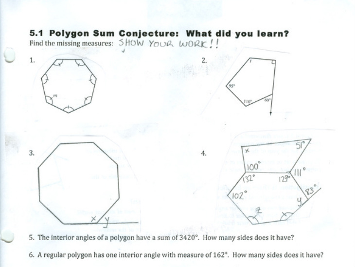 5.2: Exterior Angles Of A Polygon